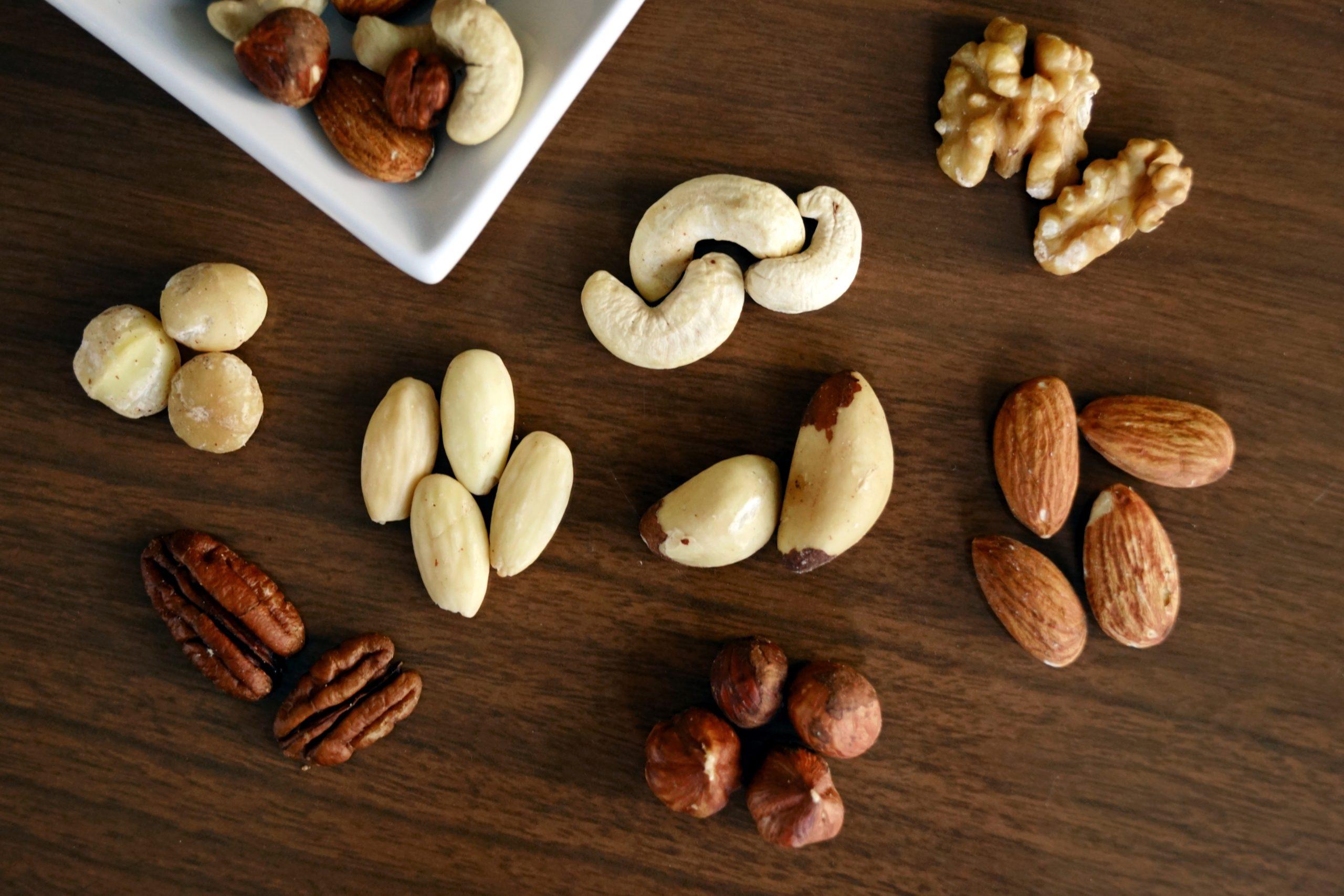 Nüsse für Pflanzenmilch