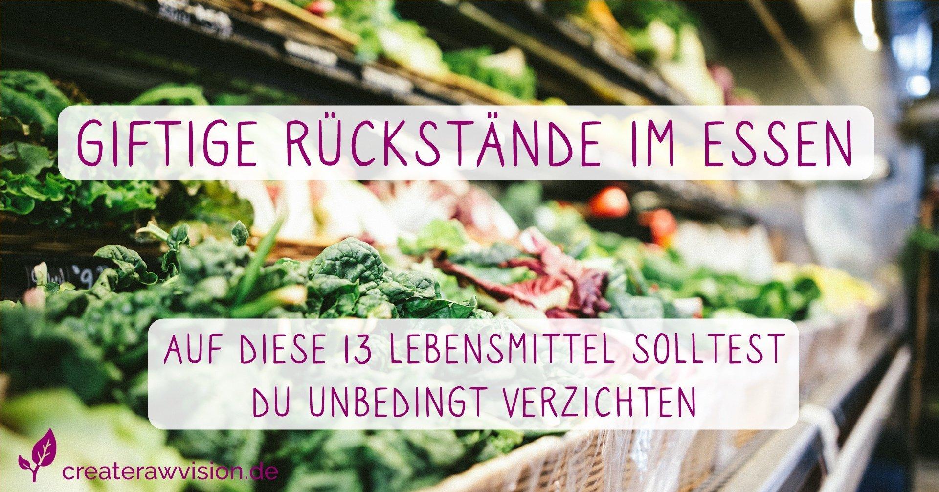 Gemüse auf dem Marktstand - Gifte in deiner Nahrung