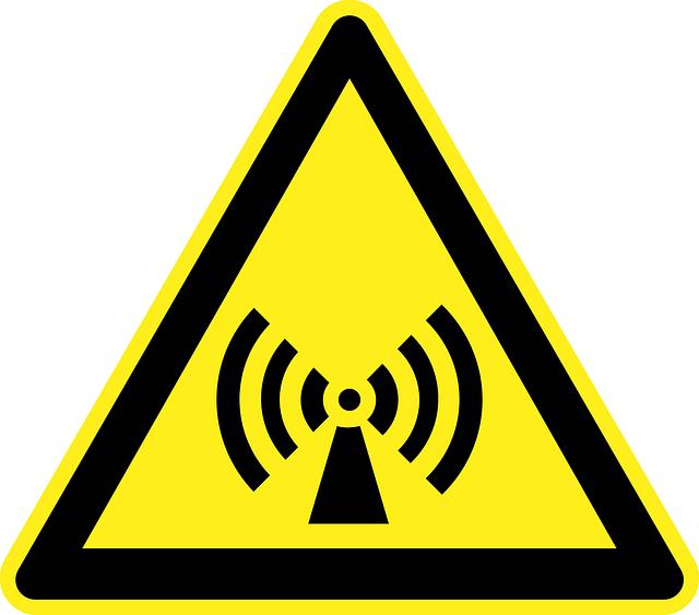Schild für Strahlung - Gifte in unserer Umwelt