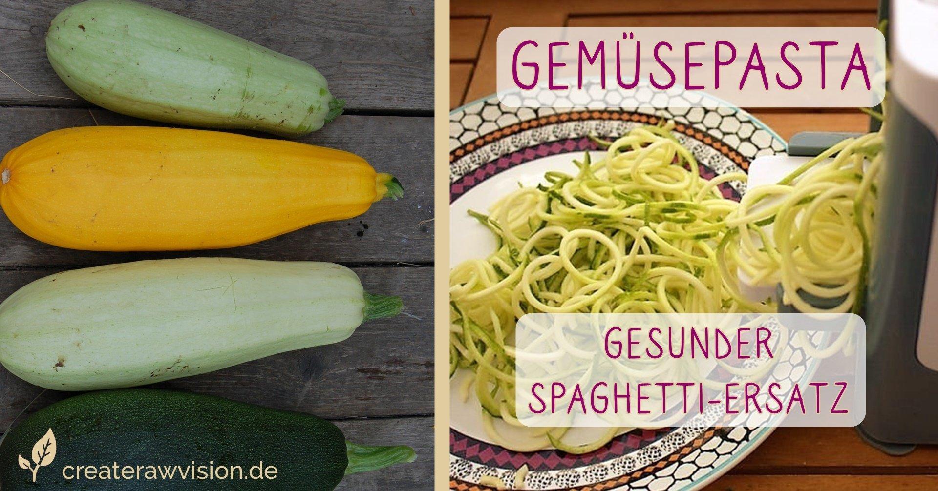 Zucchini und Gemüsespasta