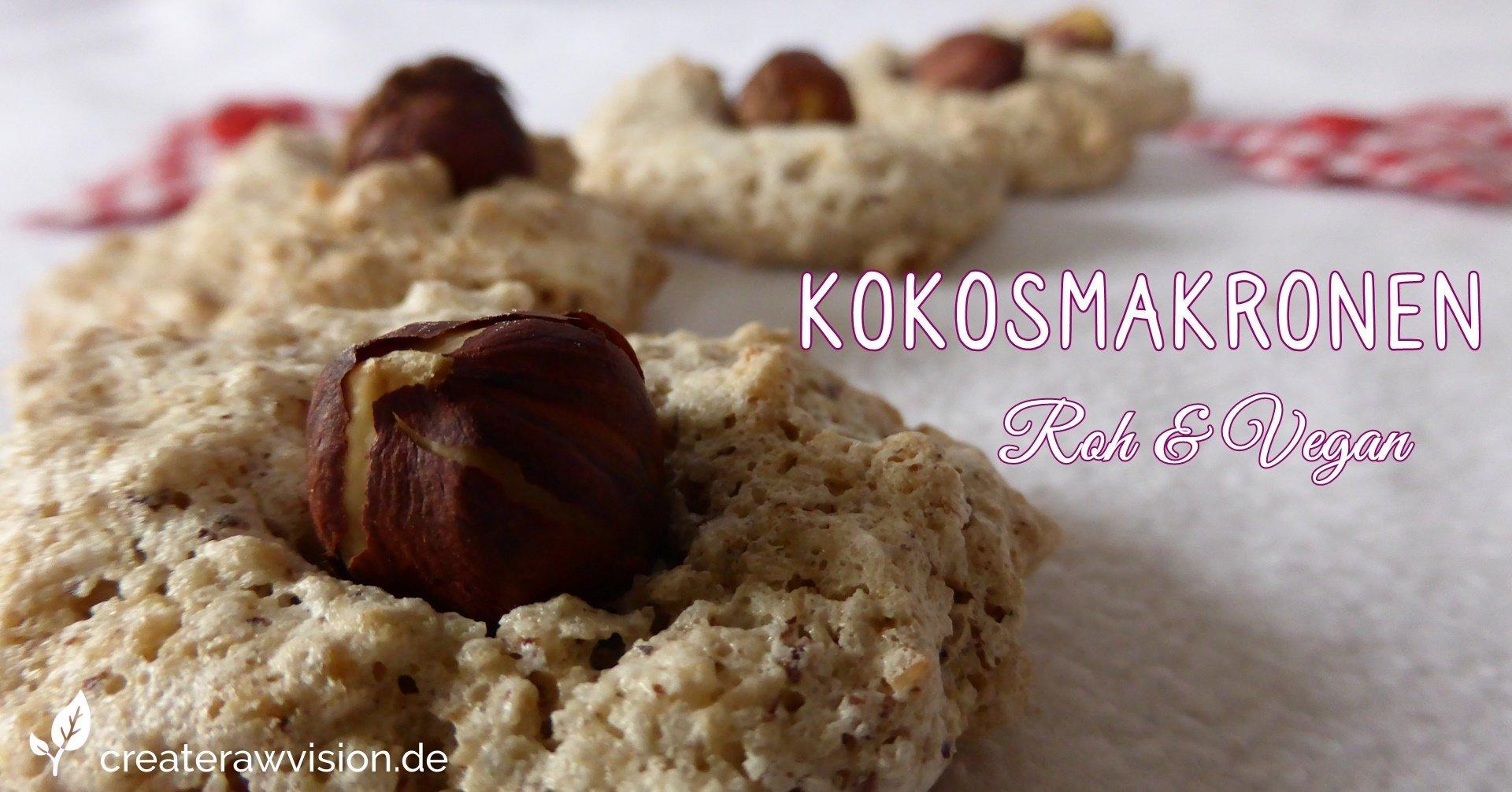 Kokosmakronen Roh & Vegan