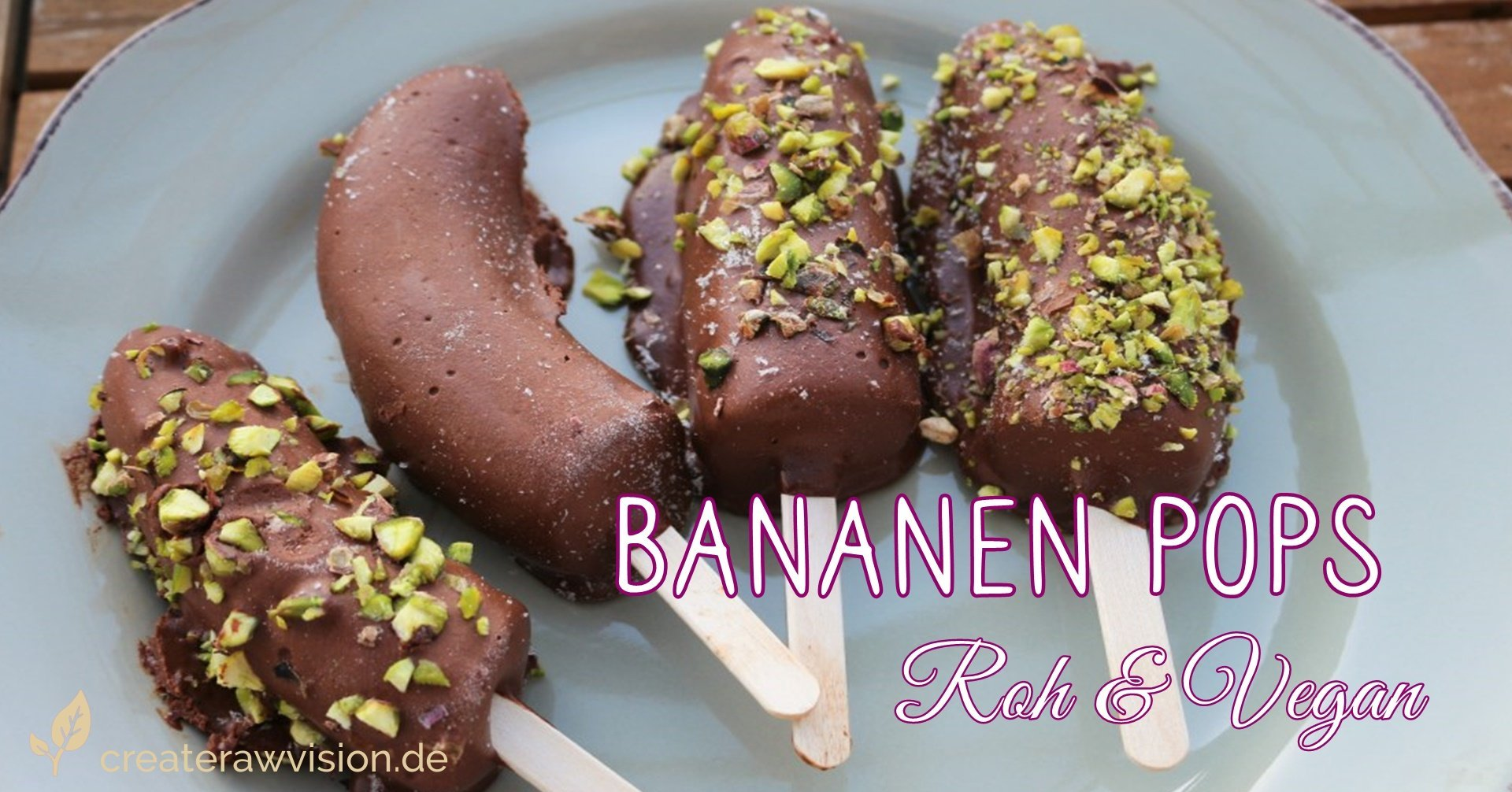 Bananenpops Roh & Vegan