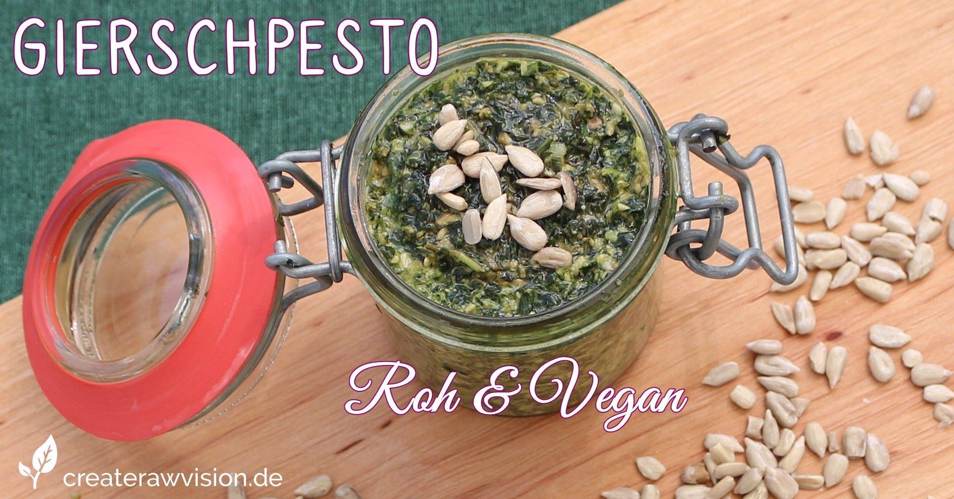 Köstliches Giersch Pesto Roh & Vegan